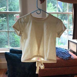 beige madewell shirt